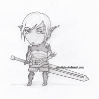 Dragon Age 2: Fenris Chibified by gabulinka