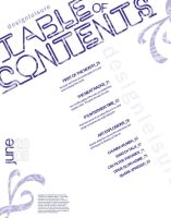 Design Leisure contents page by designdepaz