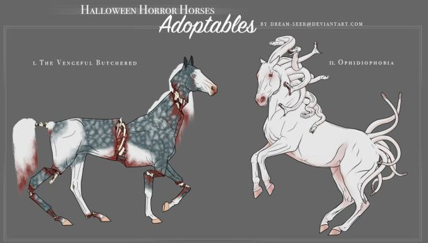 Halloween Adoptables Auction! (CLOSED) by dream-seer