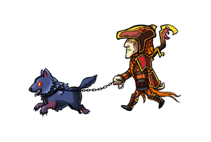 Loki and Fenrir go for a Walk by SirCaterpie