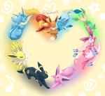 I Love Eevee Family by Bluekiss131