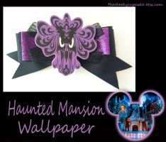 Haunted Mansion Wallpaper Bow Done by TheCheekyCupcake