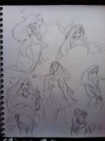 Disney princess sketches by xitsveronikiox