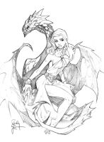 Daenerys Con Sketch by RandyGreen