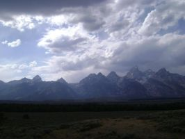 The Grand Tetons by MidknightStarr