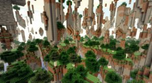 Minecraft - Paysages avec Wedge by AleksCube