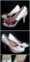 Butterfly - hand painted shoes by MaryJoArt