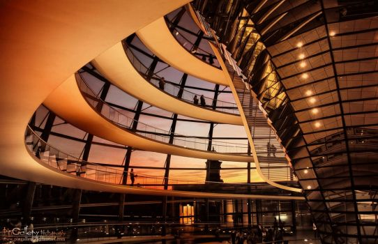 Berlin - Reichstag Dome II by pingallery