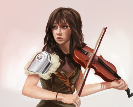 A Girl With Violin by farv