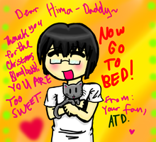 Mr. Himaruya I love you by AngeltheDeranged