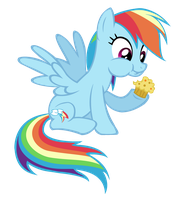 Dashie Has A Muffin Vector by ArtemisDragonrider