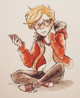 Dave Strider: Look at Phone by Prizza-Slvt