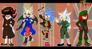 Sonic-Hetalia: Allied Powers by Achird