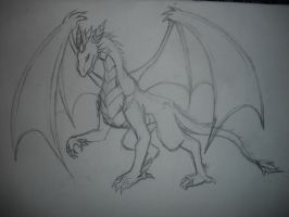 Comision-pearl the forest dragon WIP by Nami-v
