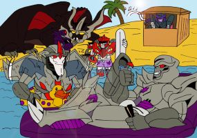 TFP: A Decepticon Beach Party by xero87
