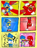 Sonic and Knuckles in: THE POWER by Teenage-Brautwurst