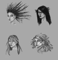 poison ivy concept head sketches 2 by Hillary-CW