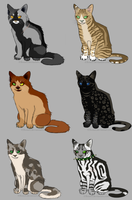 Warrior Cats Adopts _CLOSED_ by MtC-Adopts