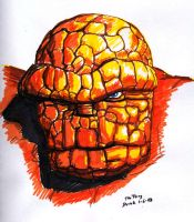The Thing Sketch by RogueDerek