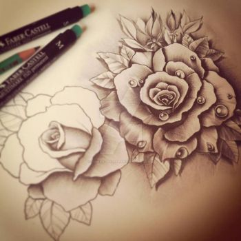 Working progress. Roses design by EdwardMiller