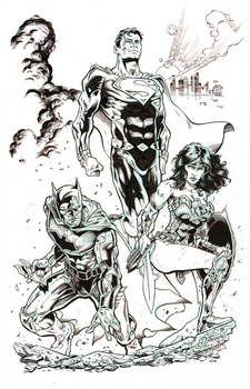 DC's Terrific Trio w/Dean Zachary's pencils by BarbKaalberg
