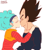 DBZ: Bulma loves Vegeta by Mary-McGregor