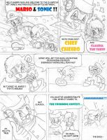 Sonic and Mario Comic by flickersowner