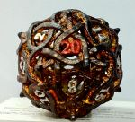 A d20 I painted as a present. by NonCharon