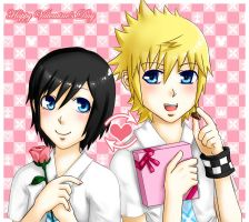 Xion and Roxas : My Valentine by mo-nochrome