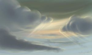 fluffy cloud speed painting by Zyryphocastria