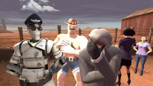 SFM-A normal day at the Mann Co. by DarkSora01