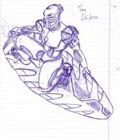 Toa Lhikan - Pen Sketch by RainDH