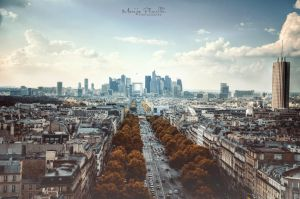 Modern Paris View by Piroshki-Photography