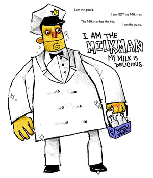 i am the milkman. by crazylilfreak