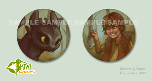 HTTYD: Buttons by Anyarr