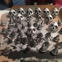 Painted Skulls and Spikes by Swest91