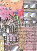 Kouichi in a huge city thing by hinoki