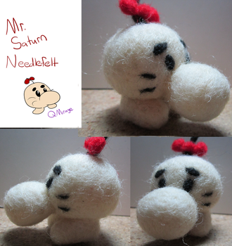 Mr. Saturn Needlfelt by QuantumMirage