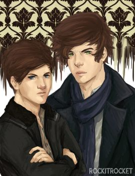 Sherlock!Larry by Laurir