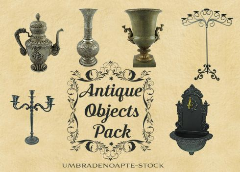 Antique Objects Pack by UmbraDeNoapte-Stock