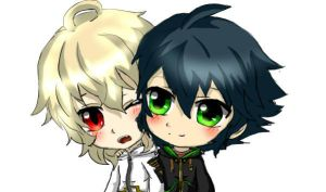Chibi Mika And Yuu by TauraSakura