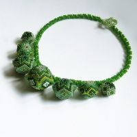 Daftar necklace with beaded beads by Sol89