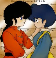 Ranma and Akane by StRaY-LoNe-WoLf