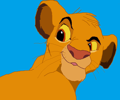 my attempt to drawing simba by wolfmad123
