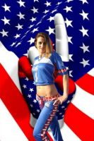 Stars Stripes Cheerleader by cdbmiles1