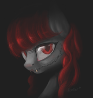 The Pony in Red by AlicornNinja