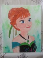 Anna canvas painting by LightningChaser