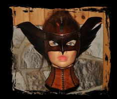 hawkgirl leather mask steampunk by Lagueuse