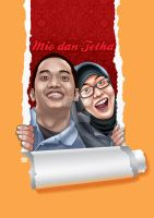 Mio and Tetha (prewedding illustration) by prie610