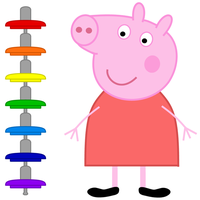 Peppa Pig and the rainbow suspensions by dev-catscratch